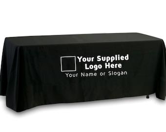 Your Supplied Logo Premium Tablecloth (Single Color Logo)