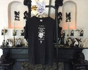 Rozz Williams shirt Christian Death tshirt 90s Goth Clothing 1990s Museum of Death shirt Death rock tee Exhebition t-shirt