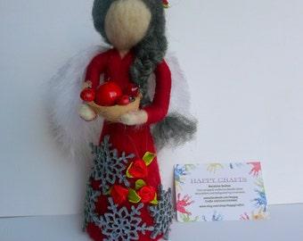 Angel/ Standing figurine/ Needle Felted/ Christmas/ Gift/ Home decor