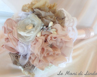 Romantic bouquet - jewelry-bouquet - shabby chic bouquet