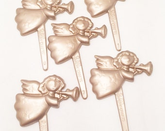 12 Angels Christmas Cupcake Picks Toppers Party Favors Cake Decorations
