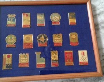 Coca cola pins Olympic pins 1924 to 1992 Souvenir