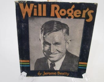 Vintage Book, The Story of Will Rogers by Jerome Beatty, MCMXXXV, 1935, The Saalfield Publishing Co., Cowboy Fox Film Corp., Little Big Book