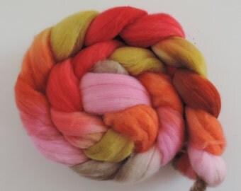 Merino Nylon,Crazy Witch, superwash sock blend, handbemalte Fasern zum Spinnen,100g Kammzug