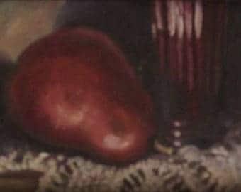 Pear still-life