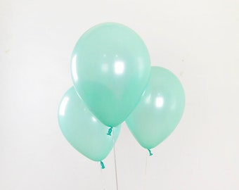 11 Inch Pearl Mint Balloon, Mint Baby Shower, Party Balloon, Mint Baby Shower, Wedding Balloon, Birthday Balloon, Mint Birthday Party