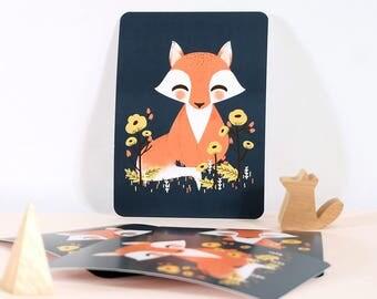 Card - Les Animignons :  the Fox