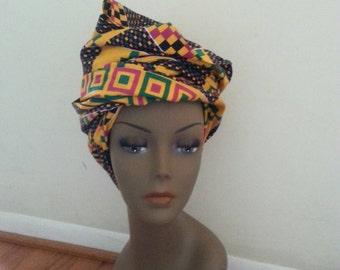 Ankara Headwrap ( Kente inspired Cloth)