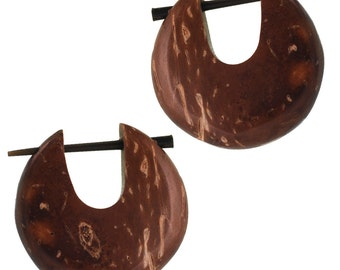 PIN hoops Horn pin 23 mm handmade coconut around (CPO-108-04)