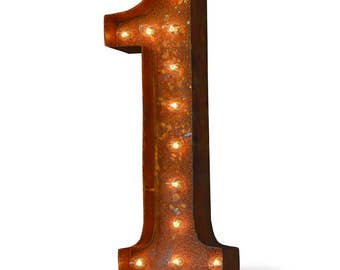 Iconics Marquee Light: Number 1