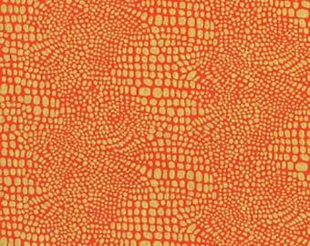 Dear Stella Gilt Trip Orange Cobblestones Metallic Cotton Fabric by the Yard ST-M22ORG