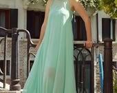 ON SALE 25% OFF Venetian Long Kaftan / Turquoise Venetian Dress / Classy Maxi Dress / Turquoise Party Dress / Elegant Summer Dress Tdk186