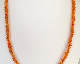 Orange Chalcedony Necklace