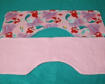 little mermaid, jungle themed burp cloths