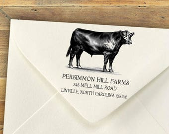 Custom Self-Inking Rubber Stamps, Farm Return Address Stamp, Personalized Stamp, Return Address Stamp, Business Stamp, Retail Store Stamp
