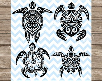 Turtle svg, Sea Turtle svg, svg, svg files, Hawaii svg, Nautical svg, Tribal svg, Hawaiian svg, svg files for cricut, silhouette cameo, dxf