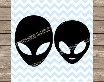 Aliens SVG Martians Aliens Vector png dxf Cutting File for Cricut SVG Silhouette