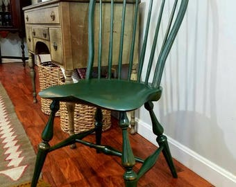 Handmade Hoop Back Windsor Chair with beautiful milk paint finish