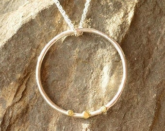 Handmade Silver and Gold Necklace