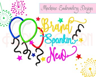 BRAND SPANKIN NEW, Machine Embroidery pattern, Applique', 5x7 and 6x8, new baby, shower gift , #723