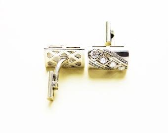 Silver 925 cufflinks with CZ