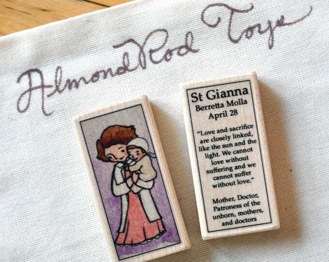St Gianna Molla Patron Saint Block // 100+ Catholic Saints to choose from // Catholic girl