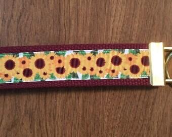 Sunflower Key Chain Zipper Pull