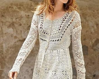 long sleeve crochet cardigan, gift ideas , women clothing, spring  designs,