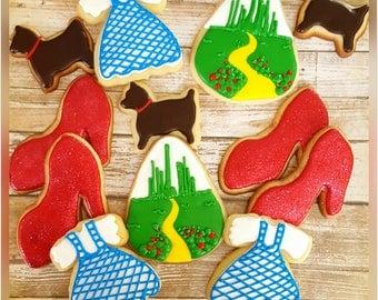 12 gourmet sugar cookies: Wizard of Oz