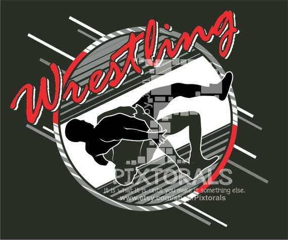 Wrestling Design Eps Jpeg Png T Shirt Graphics Wrestling