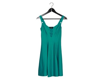 90s Lycra green vintage dress- vintage clothing