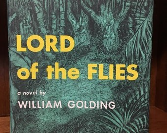 Lord of the Flies by William Golding, 1955 1st American Edition, Original 3.50 Jacket, Rare Scarce DJ
