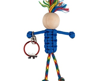 Autism Awareness key chain - Autism support gift -  paracord  autism key chain  paracord people - autism spectrum - until all the pieces fit