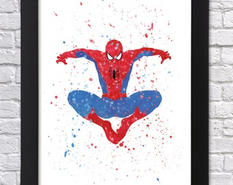 Spiderman Wall Art avengers wall art | etsy
