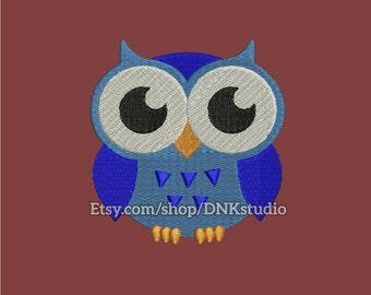 Cute Owl Embroidery Design - 5 Sizes - INSTANT DOWNLOAD