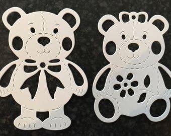 teddy bear die cuts, childrens die cuts,  die cuts, die cut, decorative die cuts, card making die cuts,