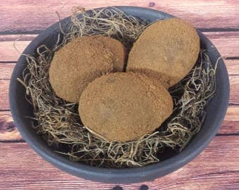Grungy Primitive Rustic Country Easter Faux Eggs, Ornie Bowl Filler, Spring Decor, Set of 3