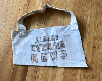 Newspaper Boy Delivery bag, Albany (NY) evening news 1926-1937