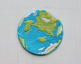 4.8 x 4.8 cm, Earth - Our Blue Planet Iron On Patch (P-022)