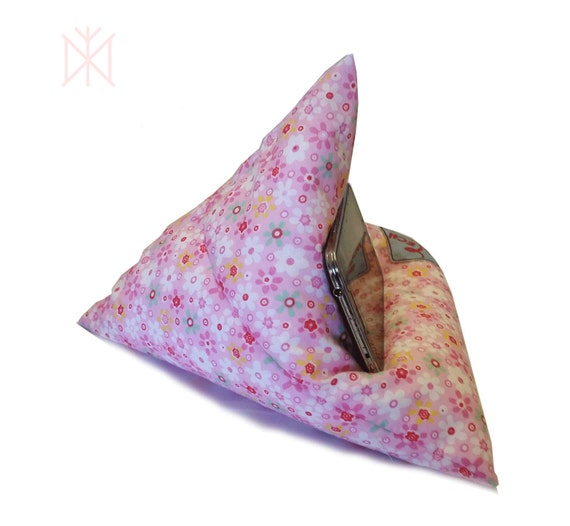 Cute Tablet Pillow : Smart Phone Stand Mobile Phone Pillow Gift for Her Pink