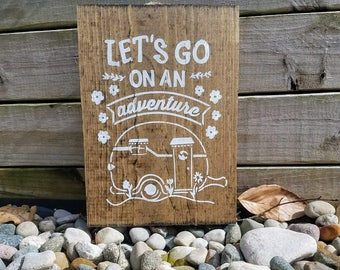 Adventure Sign, Let's Go on an Adventure Sign, Wooden Sign, Handmade Wooden Adventure Sign, Wanderlust Sign, Adventure Decor, Adventure