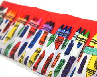 Travel Crayon Case for Children, Kids Travel Case, Crayon Roll Up Case