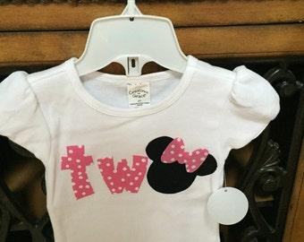 Toddler birthday shirt.  Princess birthday shirt.  Minnie Mouse inspired birthday shirt.