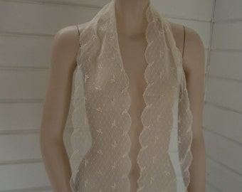Edwardian - 1920s Lacey Scarf