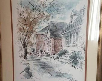 Williamsburg Print by John Haymson 1 of 3 Set available for discounted price gloucester street