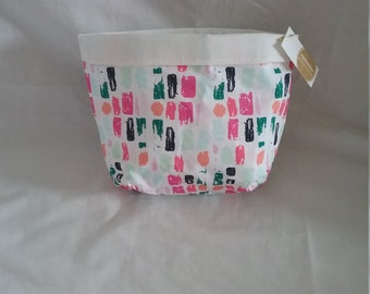 Patch coloured storage pouch/bag