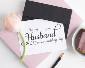 To my husband on our wedding day card - To my husband card - Wedding card - Wedding day cards - C001-23
