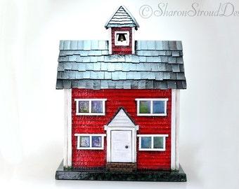 Little Red School House Box Set Including 6 Folio Scrapbook Albums