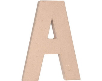 paper mache letter a 12 inchesunfinished mache embellishment lettercardboard letter alphabet dcor