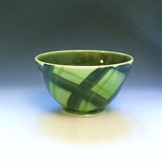 Green Soup Cereal Bowl Porcelain Bowl Large Ice Cream Bowl
